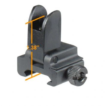 Leapers UTG Quick Detach/Fit Model 4 Low Flip-up Front Sight for Handguard Rail/High Gas Block MNT-751L